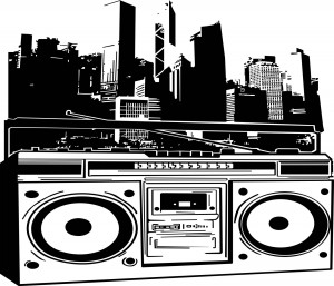 Social Boombox  /  Digital Illustration  /  36 in x 45 in
